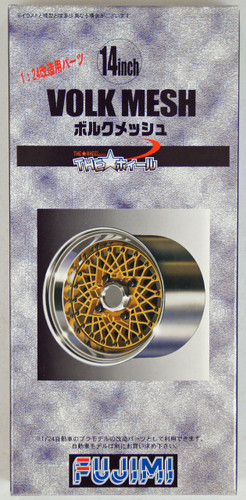Fujimi TW46 Volk Mesh 14 inch Wheel & Tire Set 1/24 Scale Kit