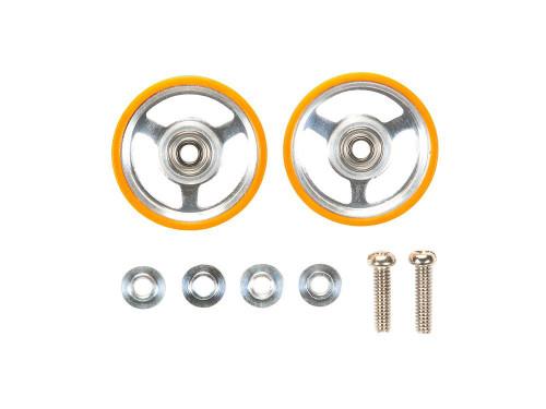 Tamiya 95349 Mini 4WD 17mm Aluminum Rollers w/Plastic Rings (Orange)