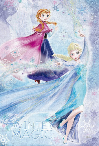 Epoch Jigsaw Puzzle Decoration 73-002 Disney Frozen Anna & Elsa Icy Blast (300 Pieces)