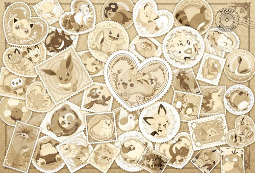 Ensky Jigsaw Puzzle 1000T-82 Pokemon Postage Stamp Art Sepia (1000 Pieces)