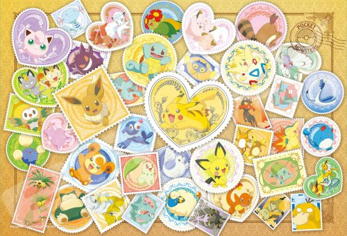Ensky Jigsaw Puzzle 108-L700 Pokemon Postage Stamp Art (108 L-Pieces)