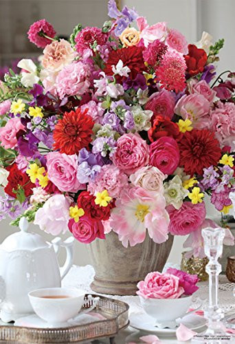 Beverly Jigsaw Puzzle M81-873 Beautiful Pinkish Flowers Bouquet (1000 S-Pieces)