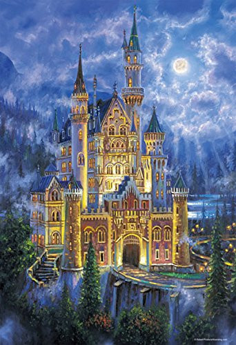 Beverly Jigsaw Puzzle M81-558 Robert Finale Moon Light Castle (1000 S-Pieces)