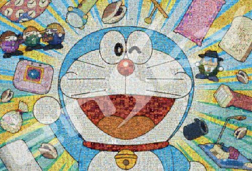 Ensky Jigsaw Puzzle 1000T-87 Doraemon Mosaic Art (1000 Pieces)