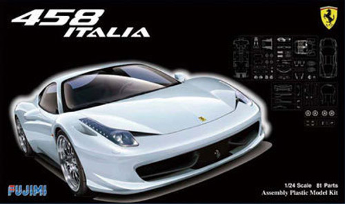 Fujimi RS-SPOT 123950 Ferrari 458 Italia White 1/24 Scale Kit