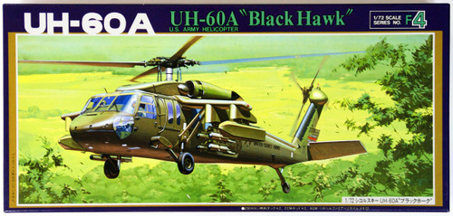 Fujimi F04 US Army Helicopter UH-60A Black Hawk 1/72 Scale Kit 720685