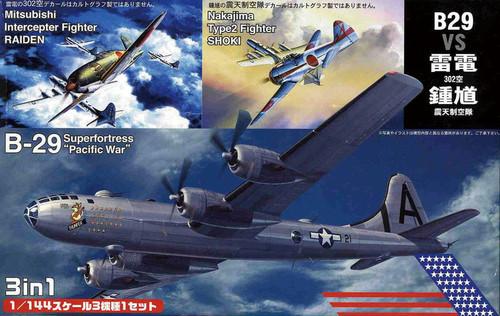 Fujimi No.10 B-29 Pacific War VS Raiden & Shoki 1/144 Scale Kit