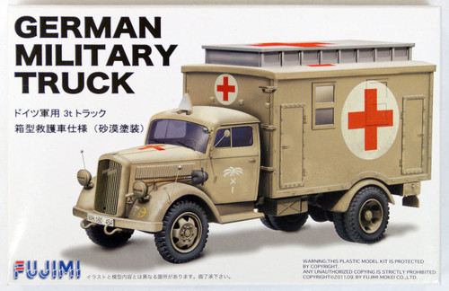 Fujimi 72M4 German Military Truck (Desert Painitng) 1/72 Scale Kit