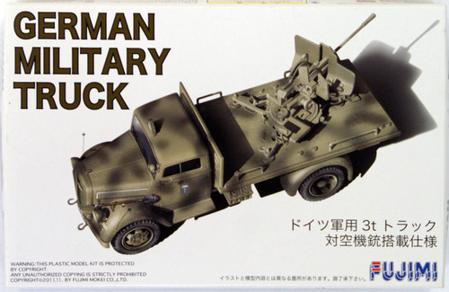 Fujimi 72M6 German Military Truck (Antiaircraft Fire) 1/72 Scale Kit