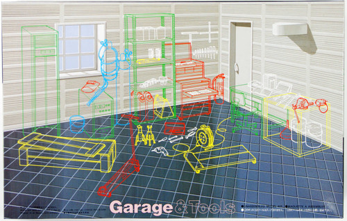 Fujimi GT01 110318 Garage & Tool Series Garage 1/24 Scale Kit 110318