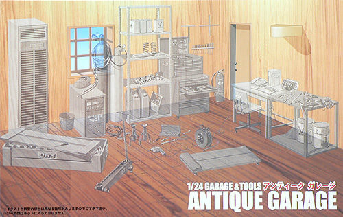 Fujimi GT12 111049 Garage & Tool Series Antique Garage 1/24 Scale Kit