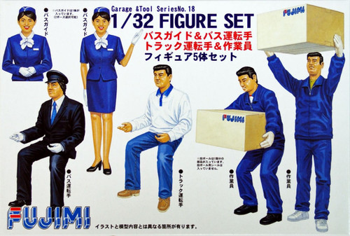 Fujimi GT18 112145 Garage & Tool Series Figure Set 1/32 Scale Kit