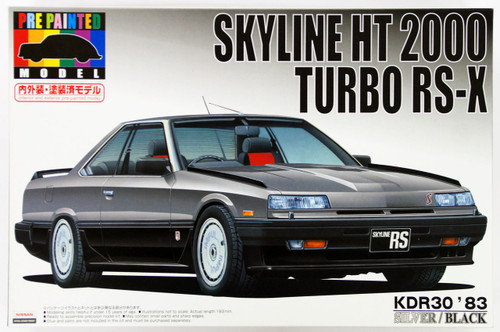 Aoshima 43783 Nissan Skyline KDR30 Silver 1/24 Scale Kit (Pre-painted Model)