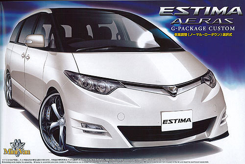 Aoshima 01981 Toyota Estima Aeras G Package Cusom 1/24 Scale Kit