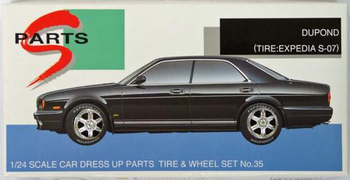 Aoshima 15476 Tire & Wheel Set DUPOND (Tire: Expedia S-07) 1/24 Scale Kit