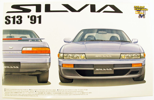 Aoshima 38727 Nissan Silvia 1991 (S13) 1/24 Scale Kit