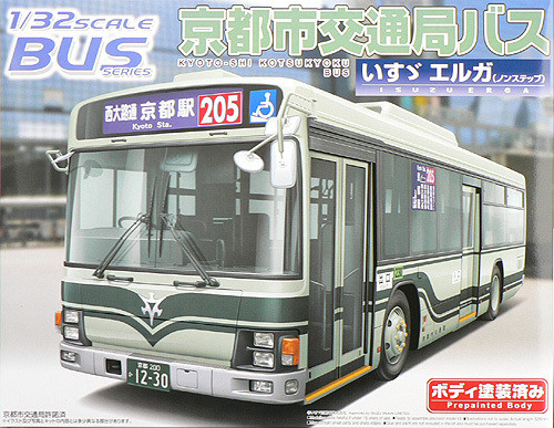 Aoshima 41222 Isuzu Erga Kyoto Bus 1/32 Scale Kit