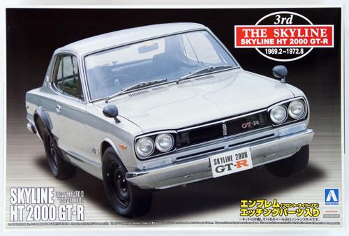 Aoshima 41697 Nissan Skyline 2000 GT-R 1970 (KPGC10) 1/24 Scale Kit