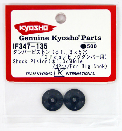 Kyosho IF347-135 Shock Piston (?1.3x5hole/2pcs/Big Shock)