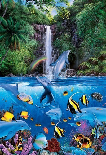 Epoch Jigsaw Puzzle 08-308 Lassen Eternal Rainbow Sea I (450 S-Pieces)