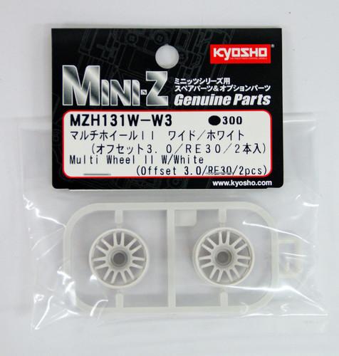 Kyosho Mini Z MZH131W-W3 Multi Wheel II Wide with Offset 3.0 (White/RE30/2 pcs)