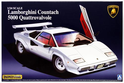Aoshima 48818 Lamborghini Countach 5000 Quattrovalvole 1/24 Scale Kit