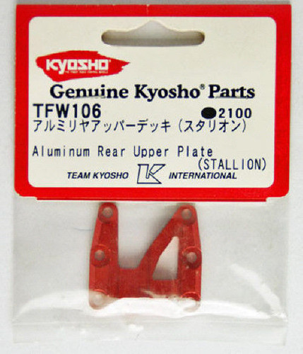 Kyosho TFW106 Aluminum Rear Upper Plate (STALLION)