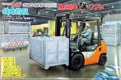 Aoshima 49280 Toyota L&F Geneo 25 Forklift (Fish Market Version) 1/32 Scale Kit