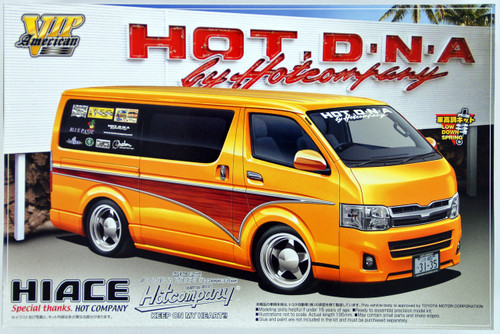 Aoshima 50712 Toyota Hiace 2010 Hot Company Design 1/24 Scale Kit
