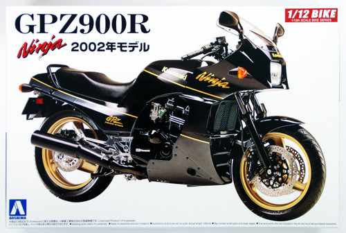 Aoshima Naked Bike 05 42878 Kawasaki GPZ900R Ninja 2002 1/12 Scale Kit