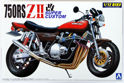 Aoshima Naked Bike 06 41789 Kawasaki 750RS ZII Custom 1/12 Scale Kit