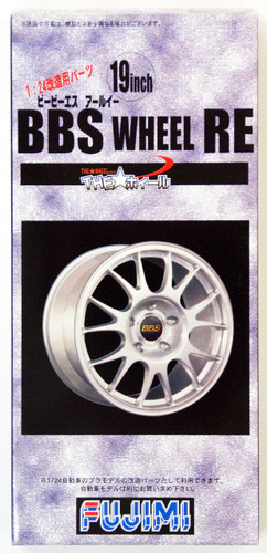 Fujimi TW15 BBS RE Wheel & Tire Set 19 inch 1/24 Scale Kit