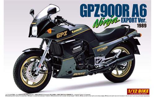 Aoshima Naked Bike 08 01240 Kawasaki GPZ900R A6 Ninja Export Version 1989 1/12 Scale Kit