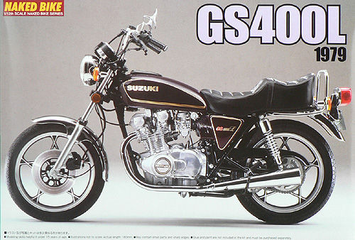 Aoshima Naked Bike 31 46265 Suzuki GS400L 1979 1/12 Scale Kit