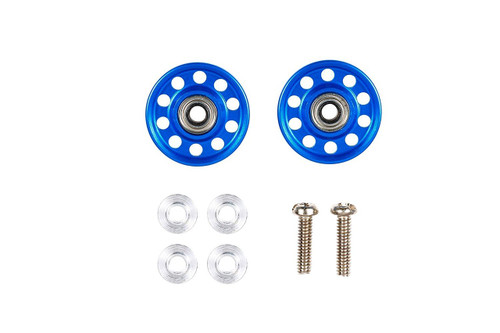 Tamiya 95382 Mini 4WD Aluminum Ball-Race Rollers 13mm LW/Ringless/Blue
