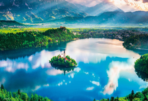 Beverly Jigsaw Puzzle M81-875 Small Church Lake Bled Slovenia (1000 S-Pieces)