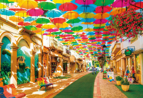 Beverly Jigsaw Puzzle 51-242 Agueda Umbrella Sky Portugal (1000 Pieces)