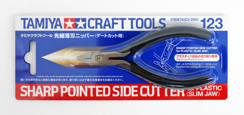 Tamiya 74123 Craft Tools Sharp Pointed Side Cutter For Plastic (Slim Jaw)