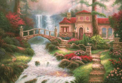 Epoch Jigsaw Puzzle 31-502 Art Chuck Pinson Sierra River Falls (1053 S-Pieces)