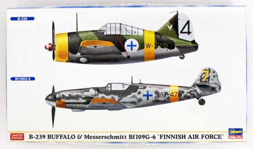 Hasegawa 02279 B-239 Buffalo & Messerschmitt Bf109G-6 'Finnish Air Force' 1/72 scale kit