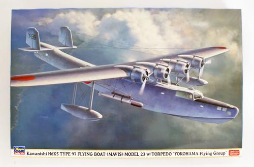 Hasegawa 02280 Kawanishi H6K5 Type 97 Large Flying Boat Type 23 Torpedo bomber Carrier-Aircraft Yokohama Air Group 1/72 scale kit