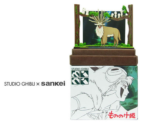 Sankei MP07-43 Studio Ghibli Forest Spirit (Princess Mononoke) Non-Scale Paper Kits