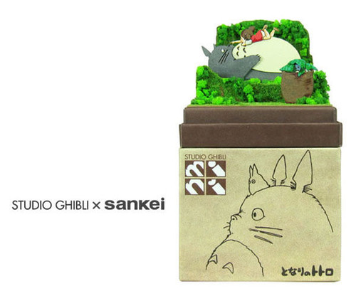 Sankei MP07-48 Studio Ghibli May and Totoro (My Neighbor Totoro) Non-Scale Paper Kits
