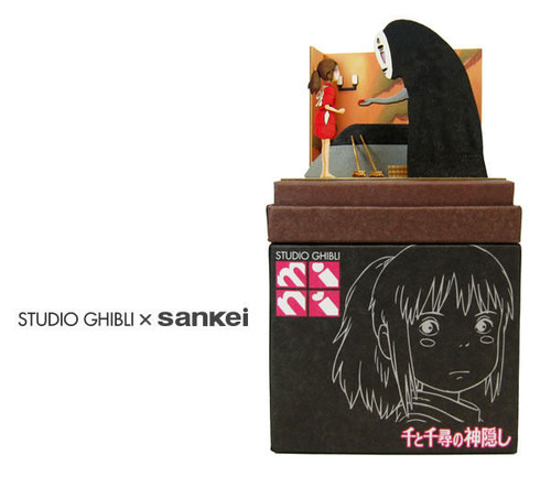 Sankei MP07-59 Studio Ghibli Chihiro and Kaonashi (Spirited Away) - Non Scale Paper Kits