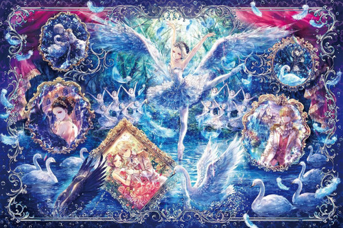 Epoch Jigsaw Puzzle 12-056 Art Onineko Swan Lake Story (1000 Pieces)