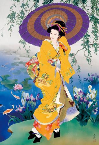 Epoch Jigsaw Puzzle 26-281 Japanese Art Haruyo Kimono Umbrella (300 Pieces)