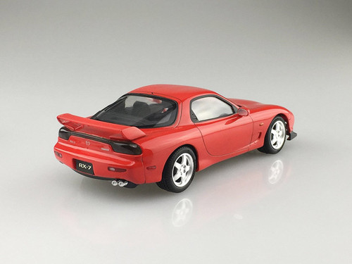 Aoshima 54970 Mazda FD3S RX-7 1999 Vintage Red 1/24 Scale Pre-Painted Model Kit