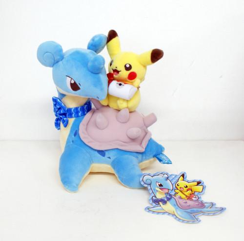 Pokemon Center Original Plush Doll Pikachu & Lapras 414-239774