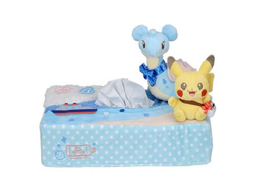 Pokemon Center Original Tissue Box Cover Pikachu & Lapras 414-