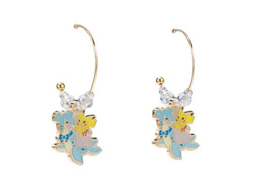 Pokemon Center Original Hoop Earrings Pikachu & Lapras 414-